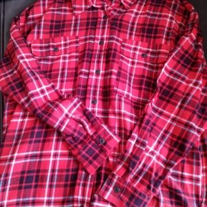 Wild Fable Red Plaid Tunic Top